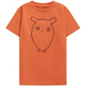 Knowledge Cotton Apparel Flax owl tee