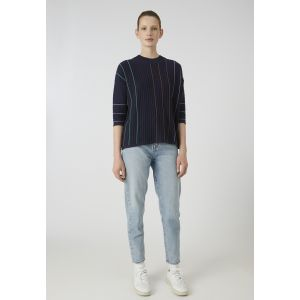 Armedangels Luccaa Vertical Stripes Pullover evening blue