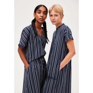 Armedangels Myaa stripes night sky off-white