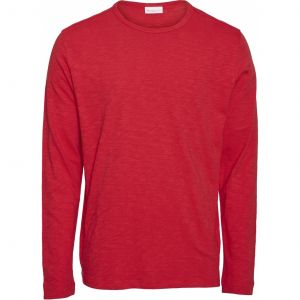 Knowledge Cotton Apparel ELM long sleeve Scarlet