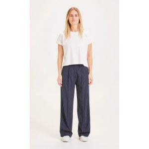 KnowledgeCotton Apparel POSEY pin strip wide pants