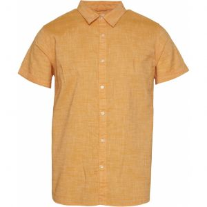Knowledge Cotton Apparel Larch  linen shirt yellow