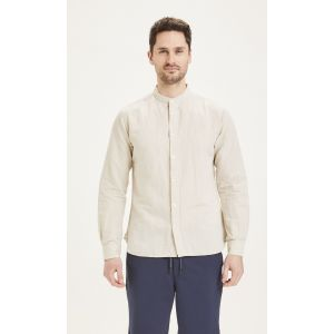 KnowledgeCotton Apparel LARCH linen shirt Light feather gray