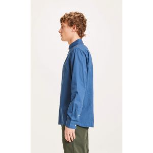 KnowledgeCotton Apparel LARCH cord shirt Dark Denim