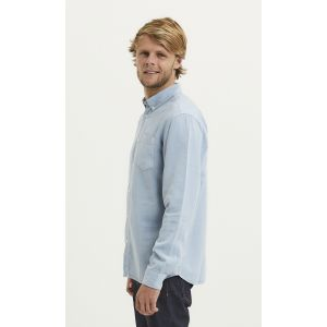 Knowledge Cotton Apparel LARCH Hemd asley blue