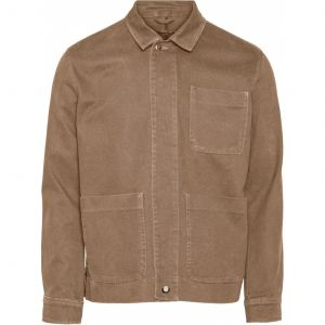 Knowledge Cotton Apparel Pine heavy twill overshirt