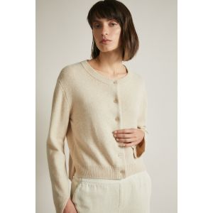 Lanius Boxy-Srickjacke cream