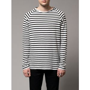 Nudie Jeans Co Otto Breton Stripe Black