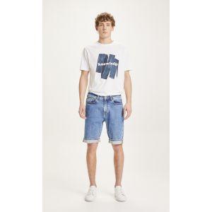 KnowledgeCotton Apparel OAK light blue denim shorts